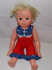 Vintage Ideal Tippy Tumbles Doll 1977 NO Battery Pack