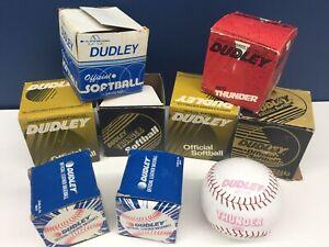 VTG LOT Dudley Softballs Baseballs w/ Original Boxes Thunder Official Leather