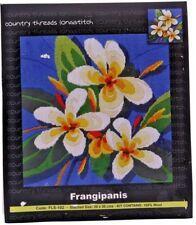 Country Threads Frangipanis Long Stitch Kit 30 X 30cm 100 Wool
