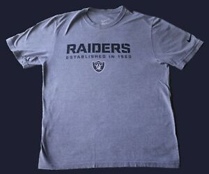 Nike Oakland Raiders Est. In 1960 NFL Football T Shirt Gray Size Large