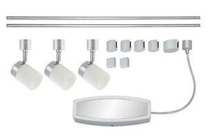 LED Deckenleuchte Peters-Living 6472355 Schienensystem Erweiterbar Titan