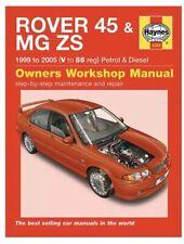 Rover 45 MGZS Haynes Manual 1999-05 1.4 1.6 1.8 Petrol 2.0 TD Workshop Repair