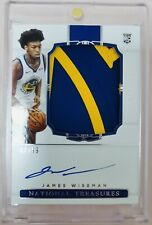 2020-21 National Treasures James Wiseman Rookie Patch Auto RPA /99 RC Warriors