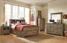 Ashley Furniture Trinell Twin Bookcase w/Side Storage 7 Piece Youth Bedset B446