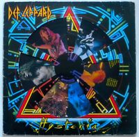 RARE DEF LEPPARD HYSTERIA VINYL PICTURE DISC LP RECORD. UK HYSPD 1