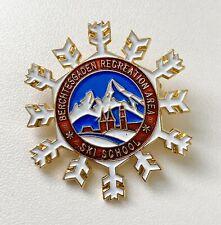 Vintage Berchtesgaden Recreation Area Ski School Pin Badge Brooch