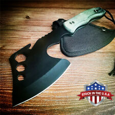 New listing Cleaver Knife Tactical Axe Tomahawk Army Outdoor Hunting Camping Survival Machet