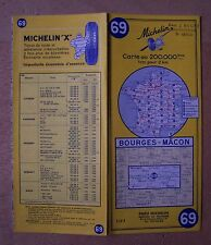#) carte MICHELIN 69 BOURGES - MACON 1966