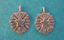 NY FD Charms Firefighter Charm Fireman Charm Dalmation Lot of 2 Free Shipping