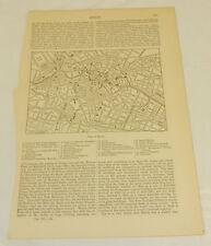 1875 Antique Map/BERLIN, GERMANY