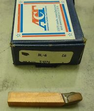 American Carbide Tool Company ACT BL-6 Bit Grade C6 Made in USA Left for Steel