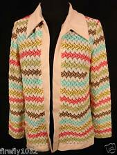 Vintage 1970'S Multicolor Flame Stitch Jacket sz 36-38
