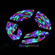 5M 3528 SMD 300 LEDs RGB No/Impermeable Tira Flexible Luces