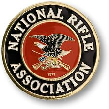 "National Rifle Association - NRA Adhesive Range Medallion Metal Decal 3"" Inch"
