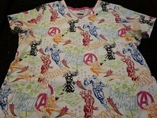 Marvel Avengers Assemble Scrub Size Large Pre-owned gently used.