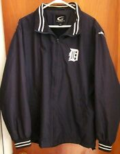 "DETROIT TIGERS med windbreaker jacket Olde English ""D"" logo polyester Carl Banks"