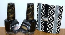 Lot 2 OPI Nail Polish Liquid Sand Emotions HL E21 Black Full Size FREE SHIPPING