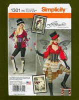 Steampunk Costume Sewing Pattern~Top Hat~Leggings (14-22) Simplicity 1301~OOP