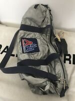 Vtg American Airlines Duffle Bag by BEARSE Manufacturing Metallic Patch Logo