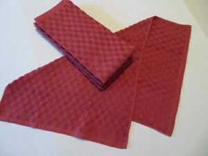 """Terry Cloth 25/"""" X 16/' set of 2 Kitchen Hand Towels Fall Pumpkin Leaves Velour"""