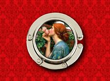RENAISSANCE ROSE WOMAN LADY ART VINTAGE HANDBAG POCKETBOOK HANGER PURSE HOOK