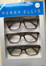 Perry Ellis  Premium Reading Glasses for Men 3 Pack +2.50 Black, Burgundy, Blue