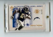 LADAINIAN TOMLINSON 2002 PACIFIC PRIVATE STOCK RESERVE GAME USED JERSEY #/42 HOF
