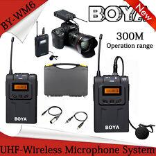 BOYA BY-WM6 UHF Omni-Directional Lavalier Wireless Microphone System for DV DSLR