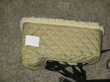 SNOOZER CONSOLE LOOKOUT SHERPA LINED SMALL SEAT QUILTED KHAKI LOCKING STRAPS EUC