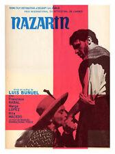 NAZARIN Belgian movie poster LUIS BUNUEL 1959 RARE