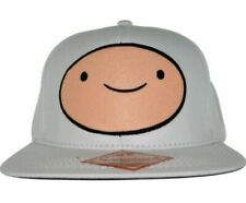 Adventure Time Finn Character Adjustable White Snapback Cap/Hat