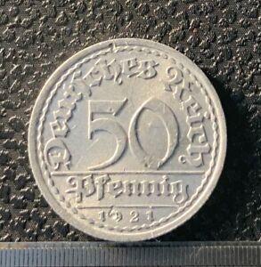 Germany 50 pfennig 1921 A - nice details