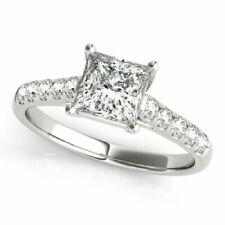1.25 Ct Princess Cut Diamond Engagement Rings 950 Platinum