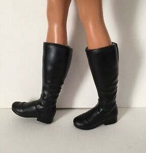 Fashionista Ken Doll Black Work Boots Motorcycle Riding Old Fashioned Style