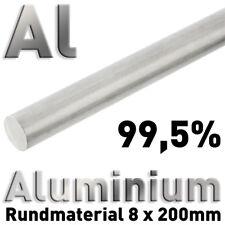Puramente-aluminio al 99,5 en aw-1050a 8 x 200 mm redondo vara alrededor de barra Alu blando cm