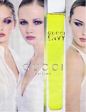 PUBLICITE ADVERTISING 084 1997 GUCCI Envy parfum