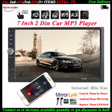 7''2 DIN Touch Screen Car Radio MP5 Audio FM/TF/USB Stereo Bluetooth Mirror Link