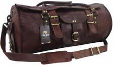 "Yuge Bear 24"" FR1 Vtg Genuine Leather Weekender Flap Duffel Travel Carry On Bag"