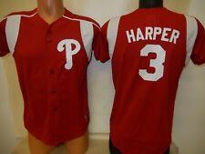 9307-1 BOYS Majestic Philadelphia Phillies BRYCE HARPER Baseball Jersey NEW RED
