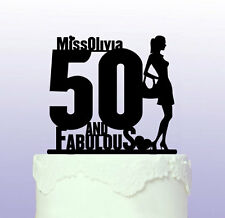 Personalised 50th and Fabulous Cake Topper