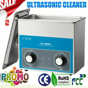 3L Ultrasonic Cleaner Ultra Sonic Bath Stainless Steel Cleaning Tank Heater 100W