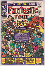 Fantastic Four Annual #3 Good Plus 2.5 Reed And Sue Wedding Jack Kirby Art 1965