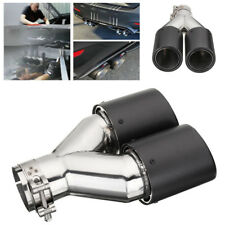 DIY Stainless Steel Car SUV Exhaust Dual Tail Pipe Tips Cover OD 89mm Universal