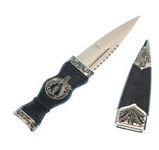 """Celtic Scottish Sgian Skean Dubh Dirk Dagger 7"""" Knife Thistle Design Handle"""