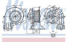 NISSENS Ventilador habitáculo FIAT CROMA OPEL VECTRA SIGNUM 87049