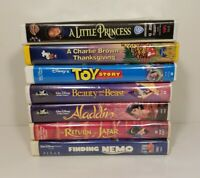 LOT OF 7 VHS CARTOONS MOVIES TOY STORY, FINDING NEMO, ALADDIN AND MORE