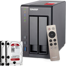 NEW QNAP TS-251+-2G-US 2-Bay Personal Cloud NAS  w/ 4TB (2x2TB) NAS Drives