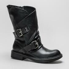 Blowfish Zip Patternless Synthetic Boots for Women