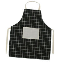Women Men Home Restaurant Kitchen Cooking Apron w/ Pocket Chef Waiter Black