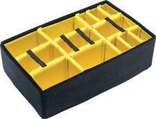 Pelican 1650 Yellow Padded divider set and lid foam. Case not included.
